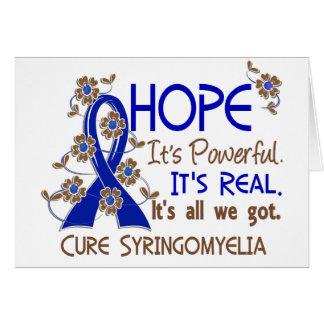 Hope Flower Ribbon Syringomyelia Greeting Card