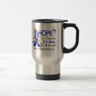 Hope Flower Ribbon Syringomyelia Stainless Steel Travel Mug