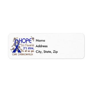 Hope Flower Ribbon Syringomyelia Return Address Label