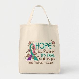 Hope Flower Ribbon Thyroid Cancer Bag