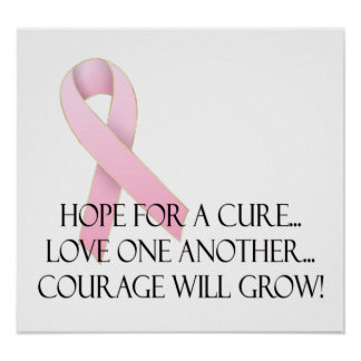 Hope for a Cure Breast Cancer Awareness Print