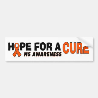 Hope For A Cure...MS Bumper Sticker