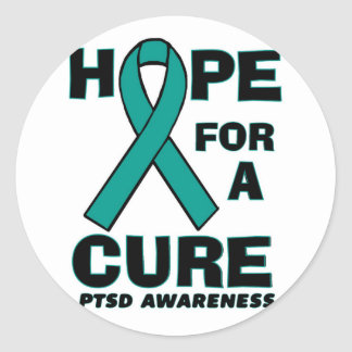 Hope For A Cure PTSD Classic Round Sticker