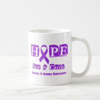 Hope for a Cure - Purple Ribbon Basic White Mug