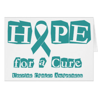 Hope for a Cure - Uterine Cancer Greeting Card
