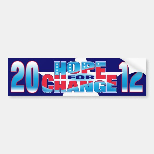 Hope for Change 2012 Bumper Sticker