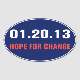 Hope For Change Sticker