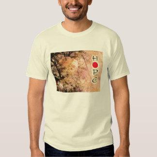 Hope for Japan Plum Blossoms & Lantern Shirt