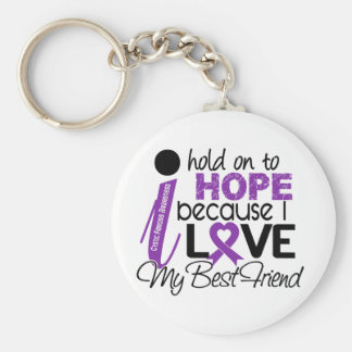 Hope For My Best Friend Cystic Fibrosis Basic Round Button Key Ring
