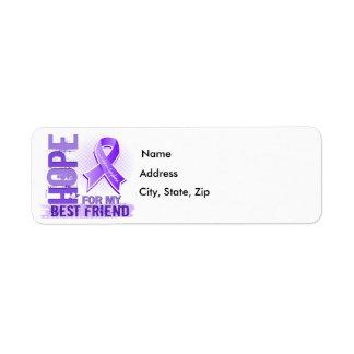 Hope For My Best Friend Hodgkins Lymphoma Return Address Label