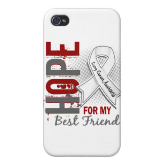 Hope For My Best Friend Lung Cancer iPhone 4 Cases