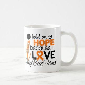 Hope For My Best Friend Multiple Sclerosis MS Basic White Mug