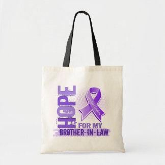 Hope For My Brother-In-Law Hodgkins Lymphoma Tote Bag