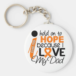 Hope For My Dad Multiple Sclerosis MS Basic Round Button Key Ring