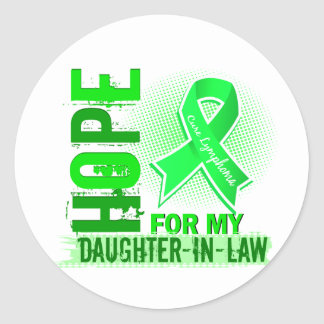 Hope For My Daughter-In-Law Lymphoma Round Sticker