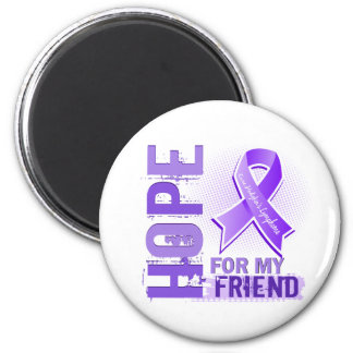 Hope For My Friend Hodgkins Lymphoma Fridge Magnet