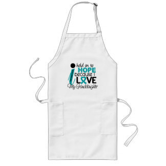 Hope For My Granddaughter Ovarian Cancer Long Apron
