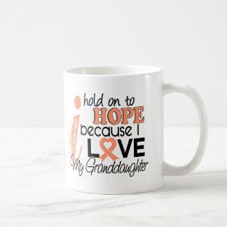Hope For My Granddaughter Uterine Cancer Classic White Coffee Mug