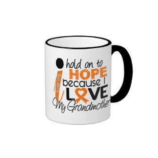 Hope For My Grandmother MS Multiple Sclerosis Ringer Mug