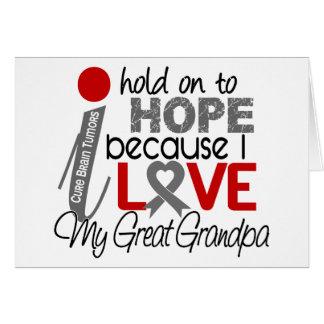 Hope For My Great Grandpa Brain Tumor Greeting Card
