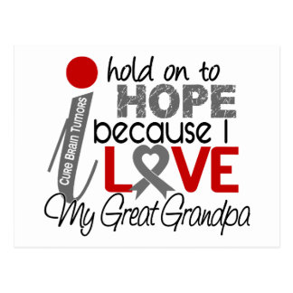 Hope For My Great Grandpa Brain Tumor Postcard