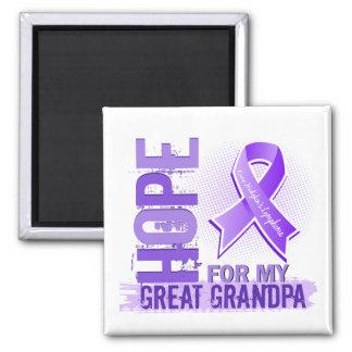 Hope For My Great Grandpa Hodgkins Lymphoma Fridge Magnets