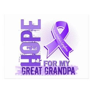 Hope For My Great Grandpa Hodgkins Lymphoma Postcard
