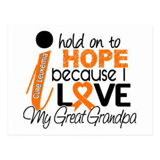 Hope For My Great Grandpa Leukemia Postcard