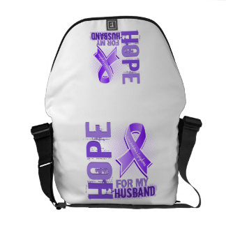 Hope For My Husband Hodgkins Lymphoma Messenger Bags