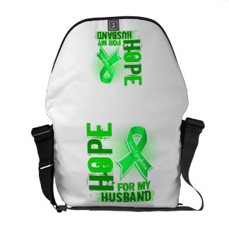 Hope For My Husband Lymphoma Courier Bags