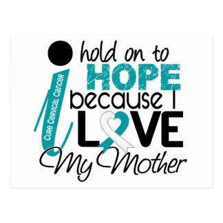 Hope For My Mother Cervical Cancer Postcard