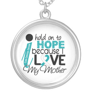Hope For My Mother Cervical Cancer Round Pendant Necklace