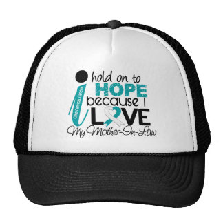 Hope For My Mother-In-Law Cervical Cancer Mesh Hats