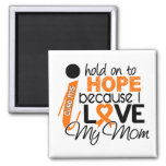 Hope For My Mum Multiple Sclerosis MS Square Magnet