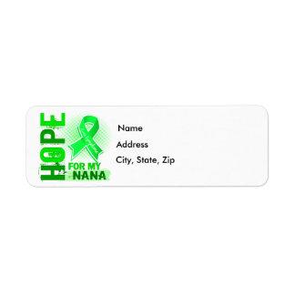 Hope For My Nana Lymphoma Return Address Label