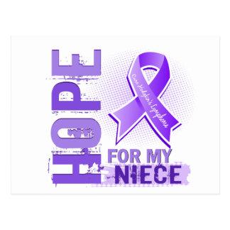 Hope For My Niece Hodgkins Lymphoma Postcard