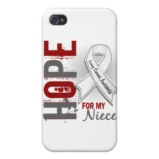 Hope For My Niece Lung Cancer Cover For iPhone 4