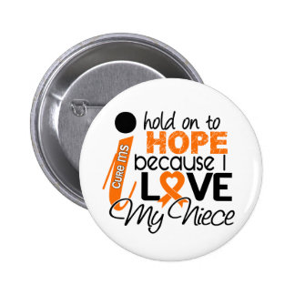 Hope For My Niece Multiple Sclerosis MS 6 Cm Round Badge