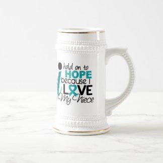 Hope For My Niece Ovarian Cancer Coffee Mug