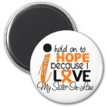 Hope For My Sister-In-Law Multiple Sclerosis MS 6 Cm Round Magnet