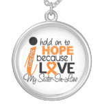 Hope For My Sister-In-Law Multiple Sclerosis MS Round Pendant Necklace