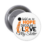 Hope For My Sister Multiple Sclerosis MS 6 Cm Round Badge