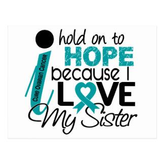 Hope For My Sister Ovarian Cancer Postcard