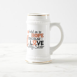 Hope For My Sister Uterine Cancer Coffee Mug