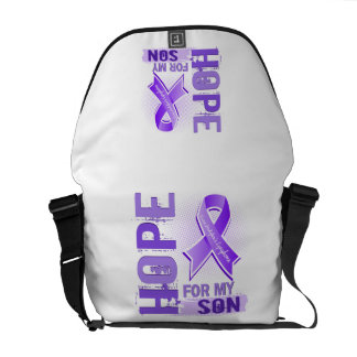 Hope For My Son Hodgkins Lymphoma Courier Bags