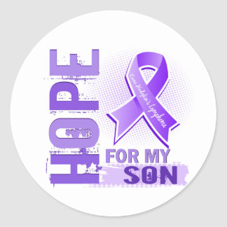 Hope For My Son Hodgkins Lymphoma Round Sticker