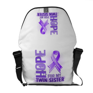 Hope For My Twin Sister Hodgkins Lymphoma Courier Bags
