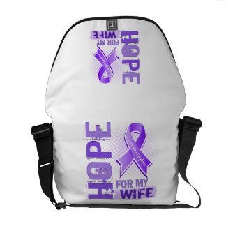 Hope For My Wife Hodgkins Lymphoma Messenger Bags