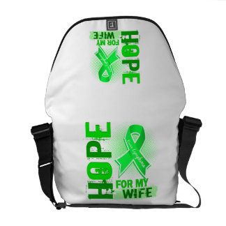 Hope For My Wife Lymphoma Courier Bags