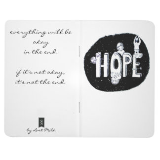 Hope for on the way with positive saying journal